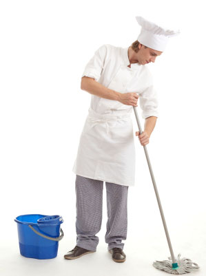 Summer Cleaning Tips Enchanting Of Chef Cleaning Kitchen Photos